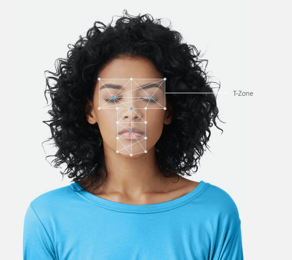 T-Zone Graphic over Women's face